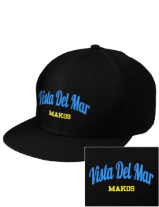 Vista del Mar School Makos  Embroidered New Era Flat Bill Snapback Cap