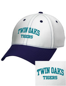 Twin Oaks High School Tiger Embroidered New Era Snapback Performance Mesh Contrast Bill Cap