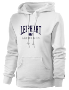 Leiphart Alternative High School Lemmings Russell Women's Pro Cotton Fleece Hooded Sweatshirt