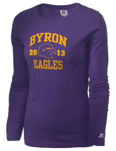 Byron Elementary School Eagles  Russell Women's Long Sleeve Campus T-Shirt