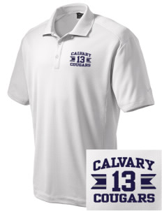 Calvary Christian Academy Cougars Embroidered Nike Men's Dri-Fit Classic Polo