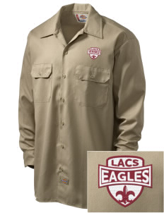 Lake Arrowhead Christian School Eagles Embroidered Dickies Men's Long-Sleeve Workshirt