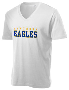 Hawthorn Eagles Alternative Men's 3.7 oz Basic V-Neck T-Shirt