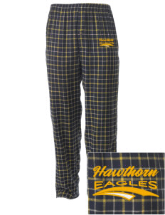 Hawthorn Eagles Embroidered Men's Button-Fly Collegiate Flannel Pant