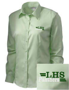 Lutheran High School Panthers  Embroidered Women's Long Sleeve Non-Iron Twill Shirt
