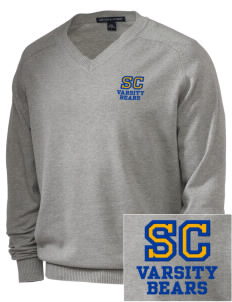 Sierra Christian Academy Bears Embroidered Men's V-Neck Sweater