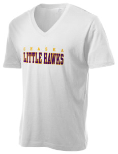 Chaska Elementary School Little Hawks Alternative Men's 3.7 oz Basic V-Neck T-Shirt