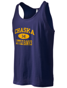 Chaska Elementary School Little Hawks Men's Jersey Tank