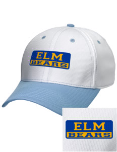 Elm Elementary School Bears Embroidered New Era Snapback Performance Mesh Contrast Bill Cap