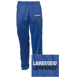 Lakeview Elementary School Leopards Embroidered Men's Tricot Track Pants