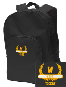 West Elementary School Tigers Embroidered Value Backpack