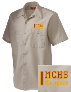 McLean County High School Cougars Embroidered Men's Cornerstone Industrial Short Sleeve Work Shirt