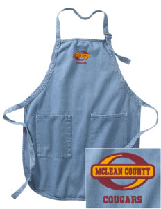 McLean County High School Cougars Embroidered Full-Length Apron with Pockets