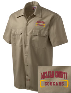 McLean County High School Cougars Embroidered Dickies Men's Short-Sleeve Workshirt