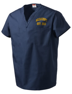 McLean County High School Cougars V-Neck Scrub Top