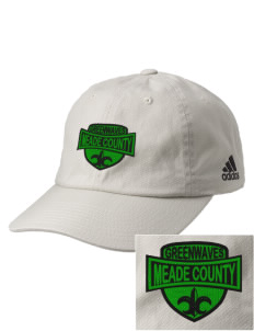 Meade County High School Greenwaves Embroidered adidas Relaxed Cresting Cap