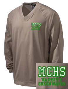 Meade County High School Greenwaves Embroidered adidas Men's ClimaProof V-Neck Wind Shirt