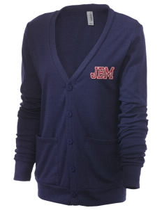 J B McNabb Middle School Indians Unisex 5.6 oz Triblend Cardigan with Distressed Applique