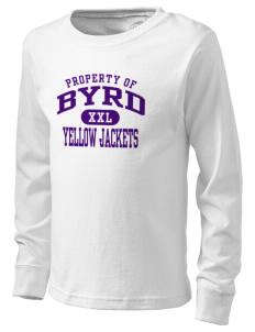 Byrd High School Yellow Jackets  Kid's Long Sleeve T-Shirt
