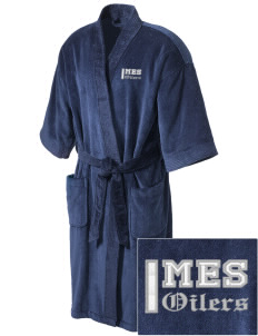 Mooringsport Elementary School Oilers Embroidered Terry Velour Robe