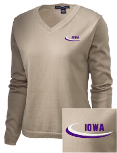 Iowa High School Yellow Jackets Embroidered Women's V-Neck Sweater