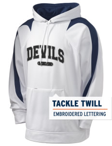 Devils Devil Holloway Men's Sports Fleece Hooded Sweatshirt with Tackle Twill