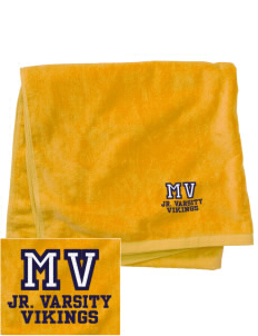 Martha Vinyard Elementary School Vikings Embroidered Beach Towel