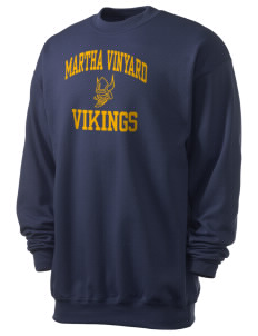 Martha Vinyard Elementary School Vikings Men's 7.8 oz Lightweight Crewneck Sweatshirt