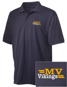 Martha Vinyard Elementary School Vikings Embroidered Men's Micro Pique Polo