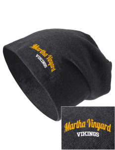 Martha Vinyard Elementary School Vikings Embroidered Slouch Beanie