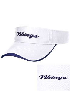Martha Vinyard Elementary School Vikings Embroidered Binding Visor