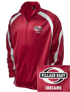 Village East School Indians Embroidered Holloway Men's Tricotex Warm Up Jacket