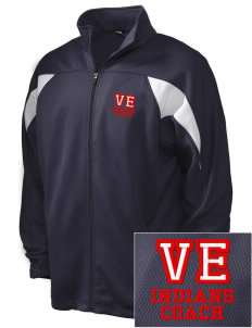 Village East School Indians Embroidered Holloway Men's Full-Zip Track Jacket