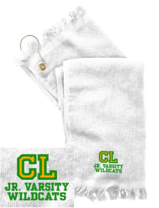 Cedar Lane Elementary School Wildcats  Embroidered Grommeted Finger Tip Towel