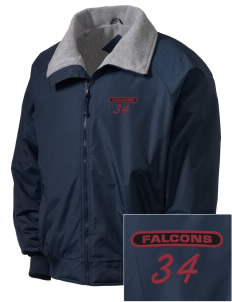 Ventnor Educational Community Complex Falcons Embroidered Men's Fleece-Lined Jacket