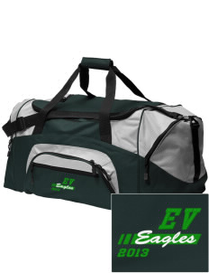 Eagle Valley Elementary School Eagles Embroidered Colorblock Duffel Bag