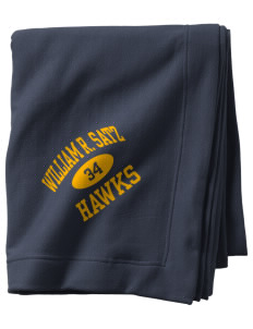 William R. Satz School Hawks  Sweatshirt Blanket