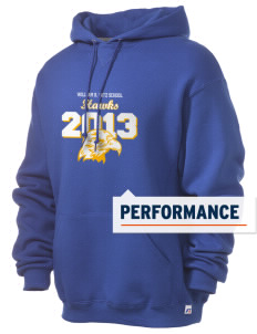 William R. Satz School Hawks Russell Men's Dri-Power Hooded Sweatshirt