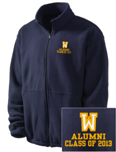 Waveland Elementary School Cubs Embroidered Men's Fleece Jacket