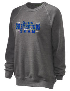 Ocean Springs High School Greyhounds Unisex Alternative Eco-Fleece Raglan Sweatshirt