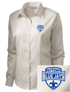 Raytown Middle School Blue Jays  Embroidered Women's Long Sleeve Non-Iron Twill Shirt