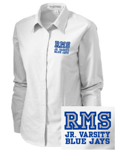 Raytown Middle School Blue Jays Embroidered Women's Classic Oxford