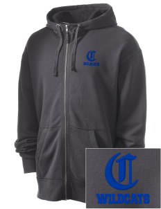 Columbia Primary School Wildcats Embroidered Men's Full Zip Hooded Sweatshirt