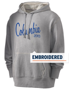 Columbia Primary School Wildcats Embroidered Men's Hooded Sweatshirt