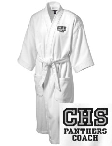 Centralia High School Panthers Embroidered Terry Velour Robe