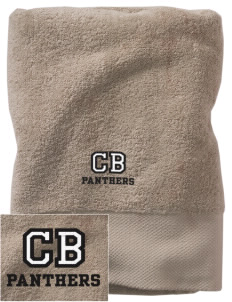 Chester Boren Middle School Panthers Embroidered Zero Twist Resort Towel