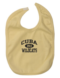 Cuba Middle School Wildcats Baby Interlock Bib