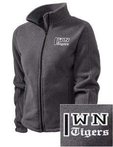 Willard North Elementary School Tigers Embroidered Women's Fleece Full-Zip Jacket