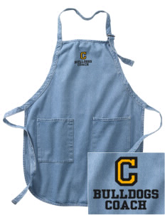 Central Elementary School Bulldogs Embroidered Full-Length Apron with Pockets
