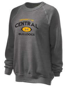 Central Elementary School Bulldogs Unisex Alternative Eco-Fleece Raglan Sweatshirt